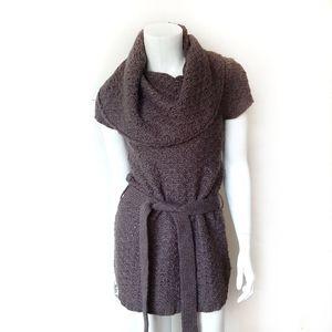 Anthro Kaisley Brown Cowl Neck Tunic Sweater